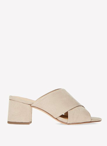 White 'Sophie' Sandals Perkins Taupe Crossover Dorothy wXBRpaqng