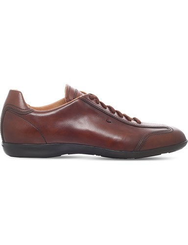 Santoni Eagle Lo Pro Leather Trainers Tan hmhbTFISf