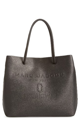 Marc Jacobs Logo Leather Shopper Black BU1uaIKm
