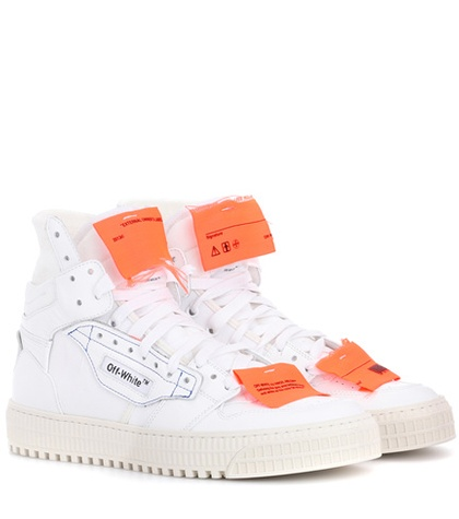 Off-White Exclusive To Mytheresa.Com Leather Sneakers EcH4Khb8