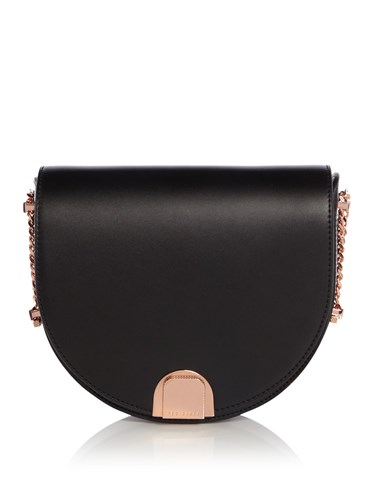 Ted Baker Izzy Moon Clasp Flap Bag Black rv5UsF