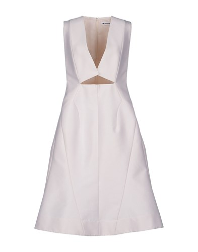 Jil Sander Dresses Knee Length Dresses Women Ivory tL1flh0f