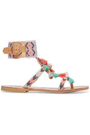 MABU BK MARIA Sandals Coral by Leather Embellished rOO4xH