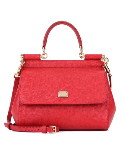Dolce & Gabbana Miss Sicily Small Leather Shoulder Bag Red By0HPCoqq