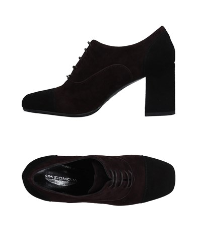 Brown SPAZIOMODA Lace Shoes Dark Up FrIrnqO4