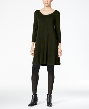 Style&co. Style Co Co. Swing Dress Only At Macy's Evening Olive eErXmCx