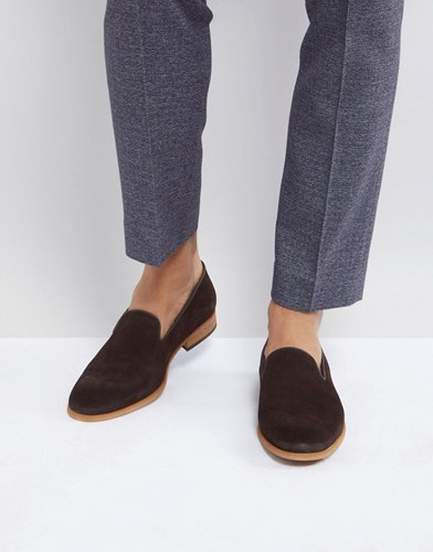 Zign Suede Smart Loafer In Brown SMnvqzJSA