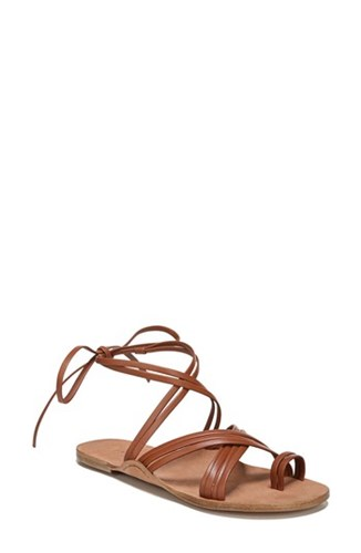 Leather Via Allegra Spiga Sandal Nutmeg fqY1xqT