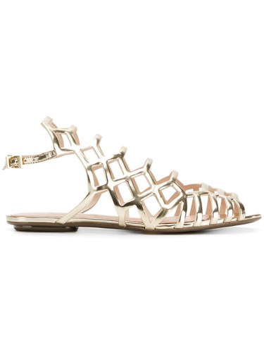 Schutz Caged Sandals Metallic AGFRHn70t