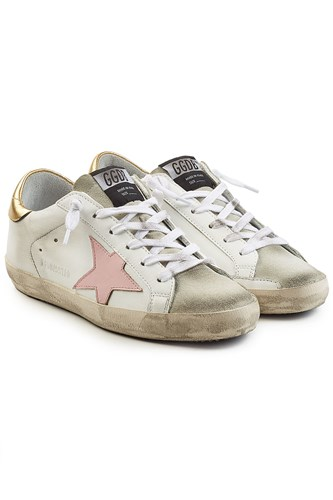 Golden Goose Deluxe Brand Super Star Leather Sneakers White k0CcVWl