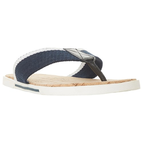 Dune Iniesta Canvas Post Toe Sandals Navy DpoWseBi