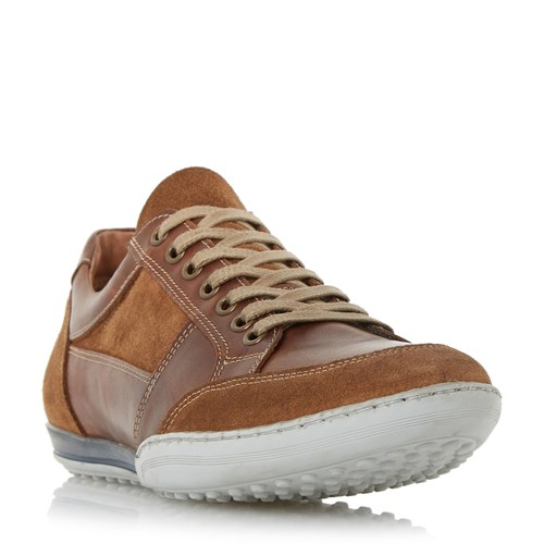 Dune Up Lace Mixed Trainers Leather Titan qxOwq6RvHC
