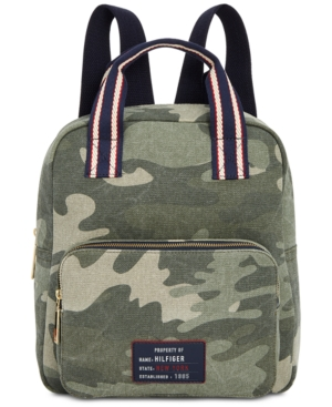 Tommy Hilfiger Bowers Camo Canvas Small Backpack Green EVlD26