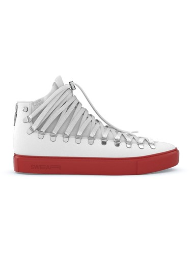Swear Redchurch Sneakers Calf Leather Nappa Leather Suede Rubber White V805gD
