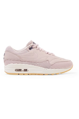 Nike Air Max 1 Si Leather And Mesh Sneakers Pastel Pink Usd ZOfcs7Msxy