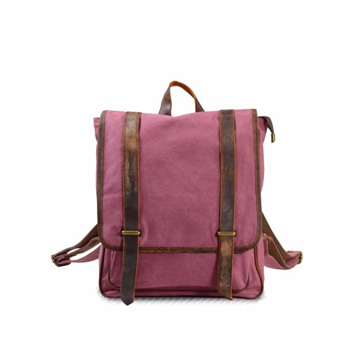 EAZO Medium Size Canvas Backpack In Red pFDoXhu9qs