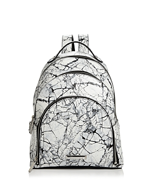 Kendall Backpack Kylie Sloane Multi Print Marble Silver White And XBrwAxX