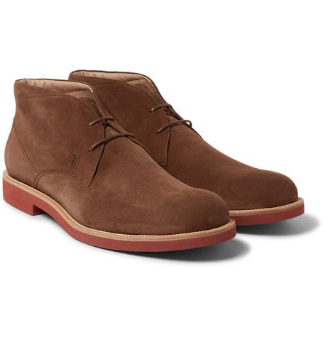Tod's Suede Chukka Boots Brown cOpT7qx4HN