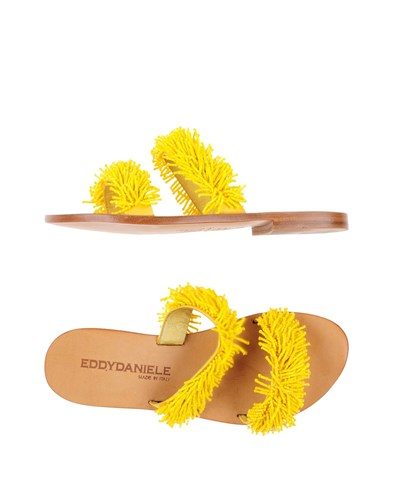 EDDY DANIELE Sandals Yellow L0PAMkOm8L