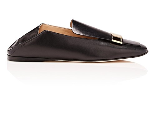 Sergio Rossi Sr1 Leather Flats Black k4E3eLF
