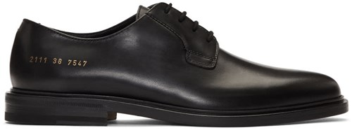 Common Projects Black Leather Sole Derbys NqVhBRwqq1