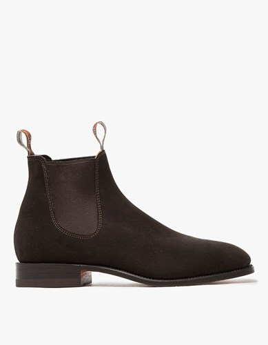 R.M. Williams Chocolate Suede Craftsman Boot z4dc4Sic