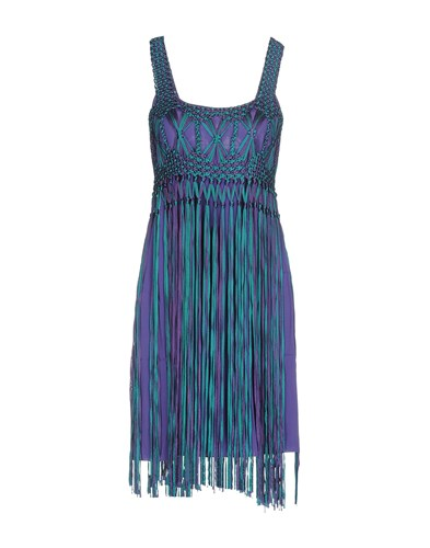 Alberta Ferretti Short Dresses Purple KFPyN