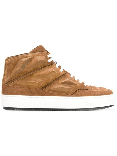 Alejandro Rubber Suede Calf Ingelmo Leather Brown Panelled Tops Hi 0w0rTR