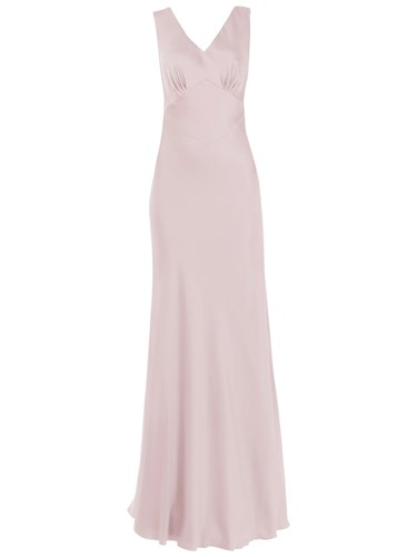 Maids to Measure Peony Dress Frosted Fig qns1e