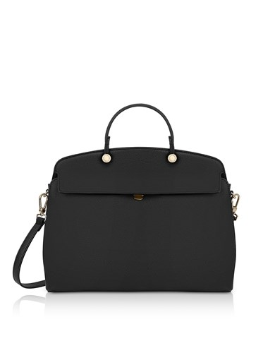 Furla Handbags Onyx Leather My Piper Medium Top Handle Satchel Bag HUsWUlU8Y