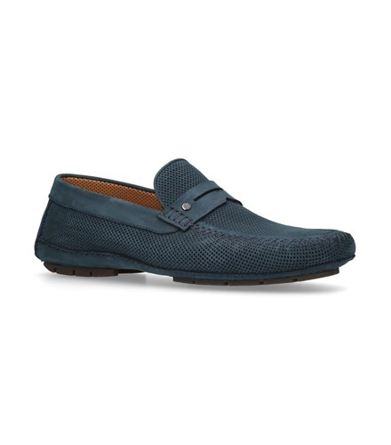 Stemar Perf Penny Driving Shoes Blue GAwVa