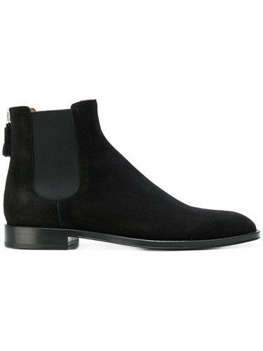Givenchy Rear Tassel Chelsea Boots Leather Calf Suede Black 0OgI1