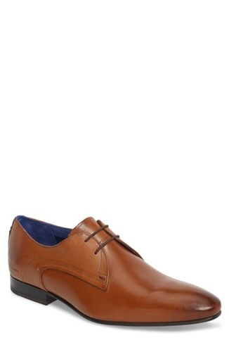 Ted Baker 'S London Peair Plain Toe Derby Tan Leather 04khLYjFYo