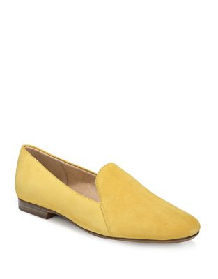Naturalizer Emiline Suede Loafers Yellow 7tFWBN