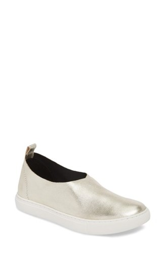 Kenneth Cole 'S New York Kathy Slip On Sneaker Light Gold Leather RXQmQhS2g6