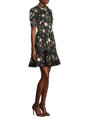 Kate Spade Botanical Poplin Dress Black SlObaouHfH