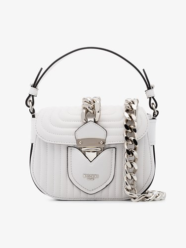 Moschino White Quilted Leather Shoulder Bag xKOqrZ