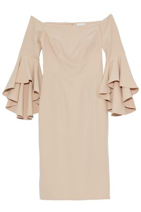 Milly Selena Off The Shoulder Cady Dress Sand wOhMbo1B