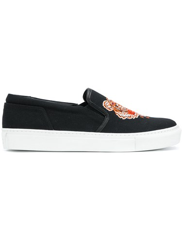 Kenzo K Py Tiger Sneakers Cotton Polyurethane Rubber Black dADBch