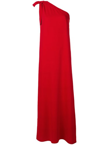 P.A.R.O.S.H. One Shoulder Maxi Dress Red 5Lh6ajTBn