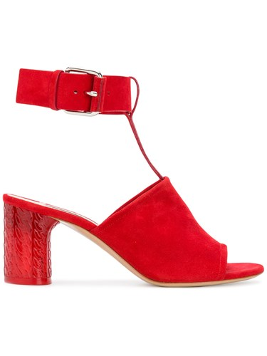 Casadei Ankle Strap Mules Red 5K4nggLa