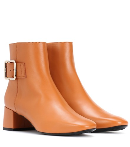 Tod's Leather Ankle Boots Brown sD9EgisfJF
