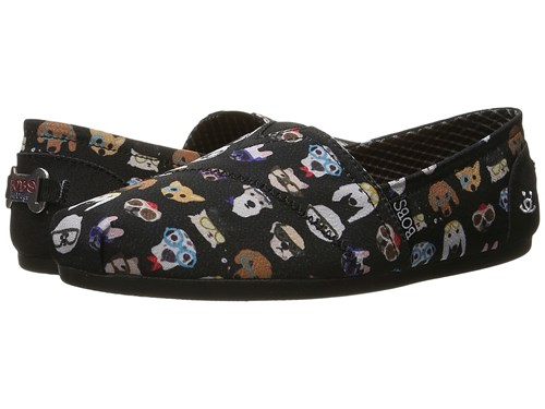 Skechers Bobs From Bobs Plush Pup Smarts Black Slip On Shoes Zw8YZ8
