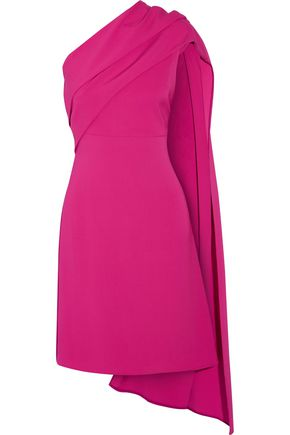 Narciso Rodriguez Draped One Shoulder Stretch Silk Crepe Dress Fuchsia oz7Szr