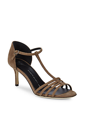 Strap Brown Giuseppe Toe Ankle Zanotti Leather Sandals Open qxww4Rvant
