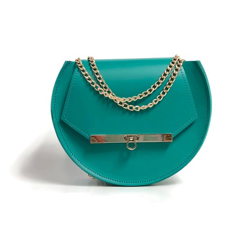 Angela Valentine Handbags Loel Military Bee Circle Bag In Teal Blue 5JkbaEIN