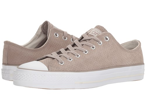 Converse Skate Chuck Taylor R All Star R Pro Suede Ox Almost Black Egret White Shoes Taupe sAJV3Te3v2