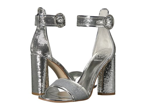 Fabric GUESS High Argento Silver Heels Abha qqw0Catp