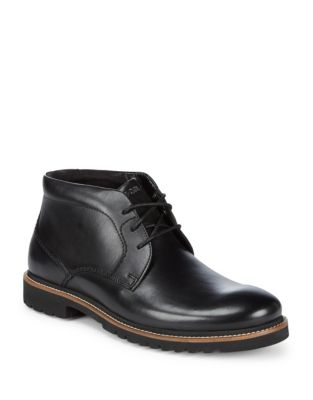 Rockport Marshall Leather Oxfords Black ihKXQ0Q