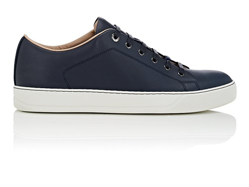 Lanvin Leather Sneakers Navy zQte9a38